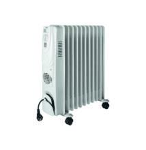 Olajradiátor beépített ventilátoros fűtőtesttel, 11 tag, 2400 W