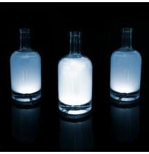 Üveg LED dekor - öntapadós - 4 db fehér LED - elemes működés