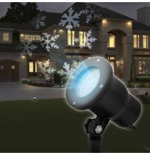 LED projektor leszúrótüskével - hópehely - IP44 - 240 V