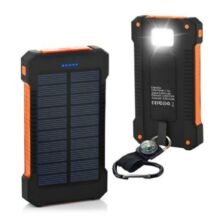 Hátizsákra akasztható napelemes töltő 4500 mAh