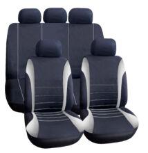 Autós üléshuzat szett - szürke / fekete - 9 db-os - HSA005
