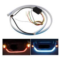 Autó tuning - Hátsó LED kijelző szalag, Kék/Piros