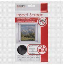 Szúnyogháló ablakra, fekete - 100x100 cm