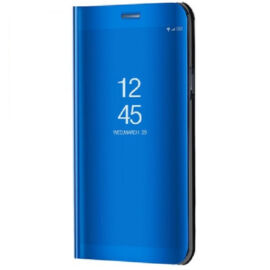 Samsung Galaxy S8 Plus SM-G955, Oldalra nyíló tok, hívás mutatóval, Smart View Cover, kék (utángyártott)