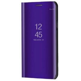 Xiaomi Mi Note 10 / 10 Pro, Oldalra nyíló tok, hívás mutatóval, Smart View Cover, lila (utángyártott)