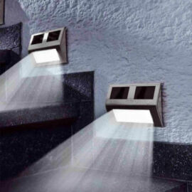 4 db falra szerelhető kültéri napelemes lámpa