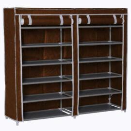 Mobil cipőtároló szekrény, barna