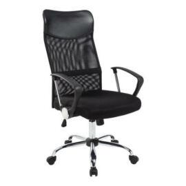 Ergonomikus irodai szék magasított háttámlával - fekete