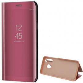 Samsung Galaxy A70 / A70s SM-A705F / A707F, Oldalra nyíló tok, hívás mutatóval, Smart View Cover, vörösarany (utángyártott)
