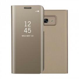 Samsung Galaxy A70 / A70s SM-A705F / A707F, Oldalra nyíló tok, hívás mutatóval, Smart View Cover, arany (utángyártott)