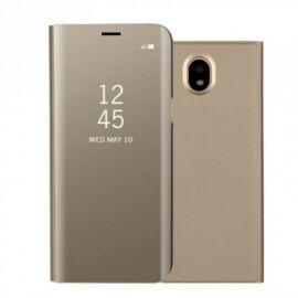 Samsung Galaxy J5 (2017) SM-J530F, Oldalra nyíló tok, hívás mutatóval, Smart View Cover, arany (utángyártott)
