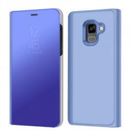 Samsung Galaxy A8 (2018) SM-A530F, Oldalra nyíló tok, hívás mutatóval, Smart View Cover, kék (utángyártott)