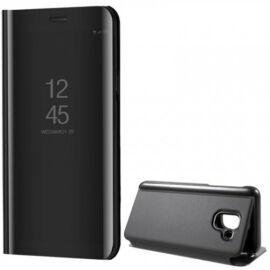 Samsung Galaxy J6 (2018) SM-J600F, Oldalra nyíló tok, hívás mutatóval, Smart View Cover, fekete (utángyártott)