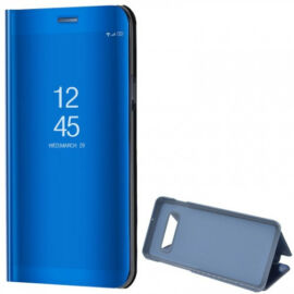 Samsung Galaxy S10 Plus SM-G975, Oldalra nyíló tok, hívás mutatóval, Smart View Cover, sötétkék (utángyártott)