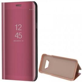 Samsung Galaxy S10e SM-G970, Oldalra nyíló tok, hívás mutatóval, Smart View Cover, vörösarany (utángyártott)