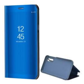 Samsung Galaxy A20 / A30 SM-A205F / A305F, Oldalra nyíló tok, hívás mutatóval, Smart View Cover, kék (utángyártott)