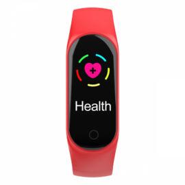M3 pulzus vérnyomás mérő okoskarkötő piros