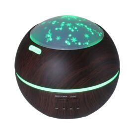 Csillagfényes Aroma Diffúzor  LED fénnyel Sötétbarna