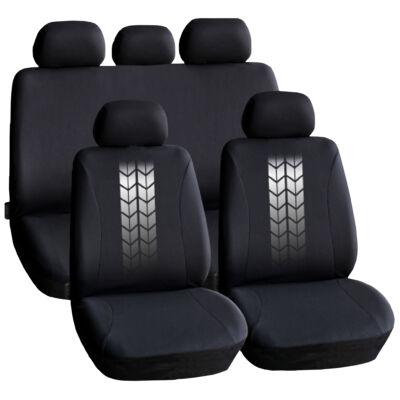 Autós üléshuzat szett - szürke / fekete - 9 db-os - HSA004