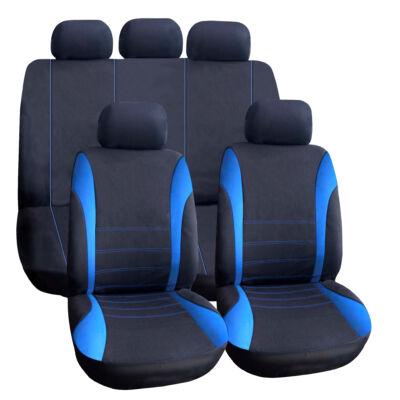 Autós üléshuzat szett - kék / fekete - 9 db-os - HSA006