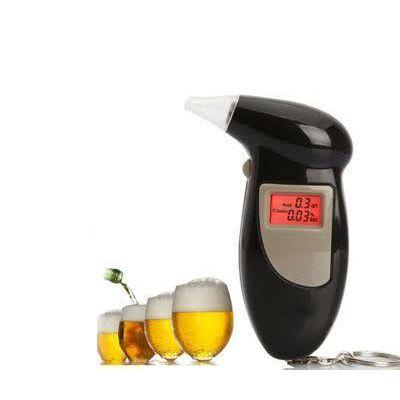 Digitális alkoholszondás kulcstartó