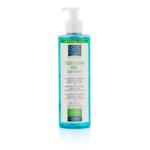Isispharma Teen Derm Gél Sensitive, szappanmentes tisztító gél, zsíros-mitesszeres bőrre 250ml