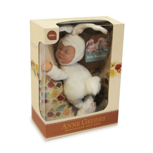 Anne Geddes babafigura, fehér nyuszi