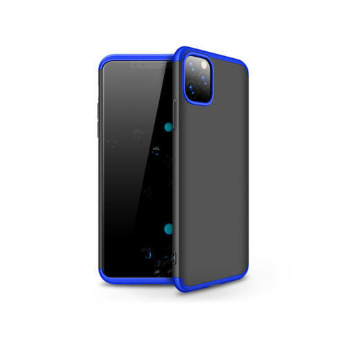 Apple iPhone 11 Pro hátlap - GKK 360 Full Protection 3in1 - fekete/kék