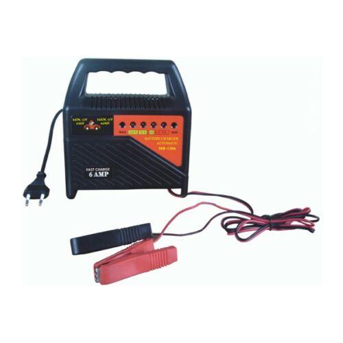 Akkumulátortöltő 12V 6A