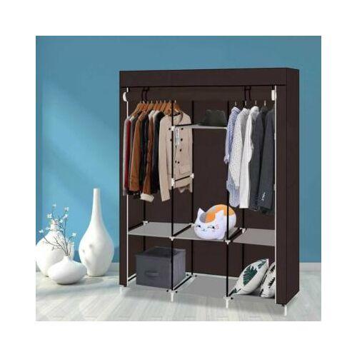 Mobil ruhás szekrény, barna