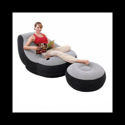 Felfújható fotel lábtartóval
