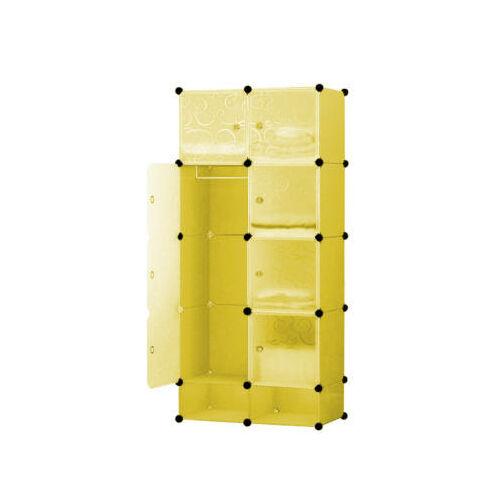 Műanyag elemes szekrény, citromsárga