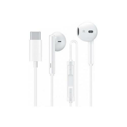 Huawei gyári sztereó headset USB Type-C csatlakozóval - Huawei CM33 - fehér (ECO csomagolás)
