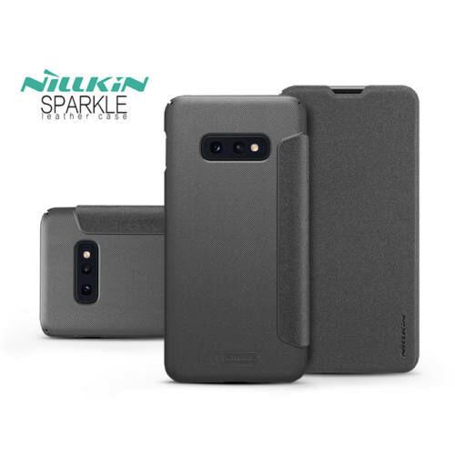 Samsung G970U Galaxy S10e oldalra nyíló flipes tok - Nillkin Sparkle - fekete
