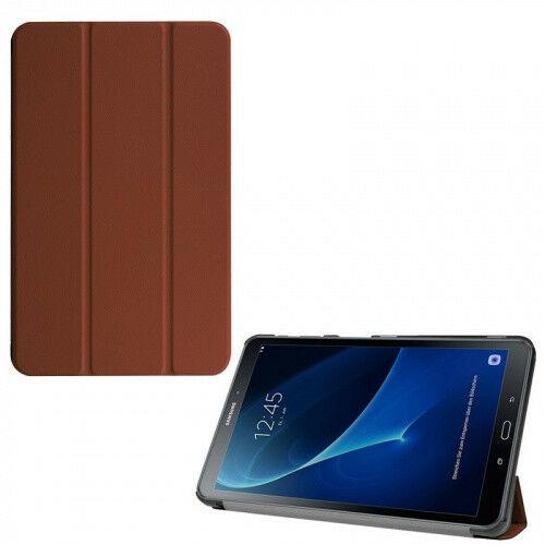 Samsung Galaxy Tab A 10.1 (2016) SM-T580 / T585, mappa tok, Trifold, barna