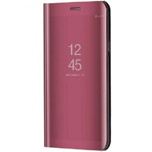 Huawei P20 Pro, Oldalra nyíló tok, hívás mutatóval, Smart View Cover, vörösarany (utángyártott)
