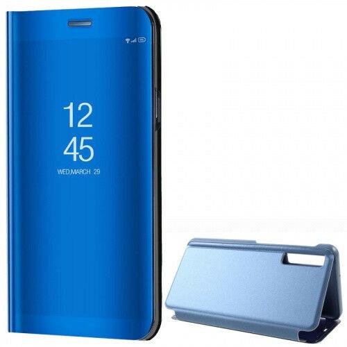 Samsung Galaxy A7 (2018) SM-A750F, Oldalra nyíló tok, hívás mutatóval, Smart View Cover, kék (utángyártott)