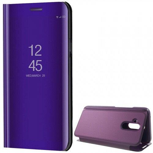 Huawei Mate 20 Lite, Oldalra nyíló tok, hívás mutatóval, Smart View Cover, lila (utángyártott)