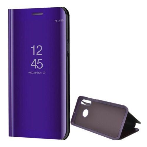 Huawei P30 Lite, Oldalra nyíló tok, hívás mutatóval, Smart View Cover, lila (utángyártott)