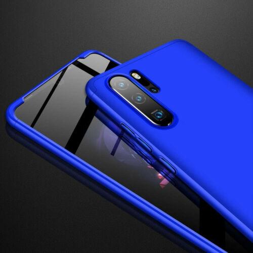 Huawei P30 360°-os kék tok +3D fólia
