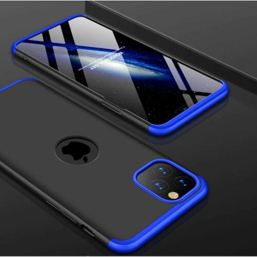 iPhone 11 pro 360°-os kék-fekete tok+üvegfólia