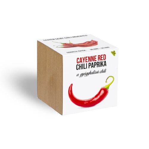 Cayenne red chili paprika növényem fa kaspóban