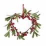 Kép 2/5 - X-MAS dekor dísz szív piros bogyókkal