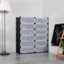 Kép 1/2 -  Műanyag elemes cipőtároló szekrény - fekete